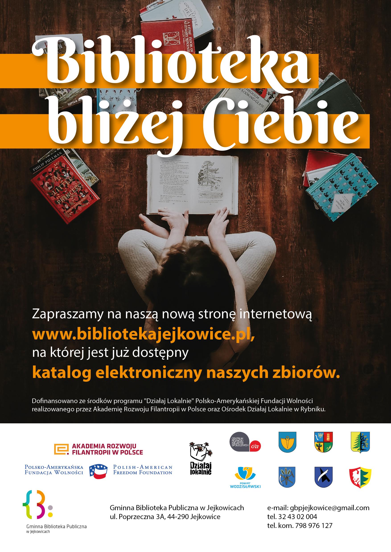 Biblioteka Jejkowice nowa strona www - Plakat A3